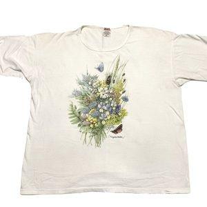 Vintage | Marjolein Bastin Floral Butterfly Tee